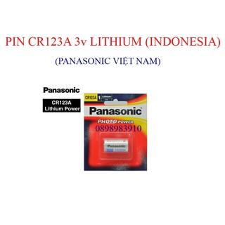 Pin CR123 3v Lithium PANASONIC CR123A vỉ 1 viên – INDONESIA