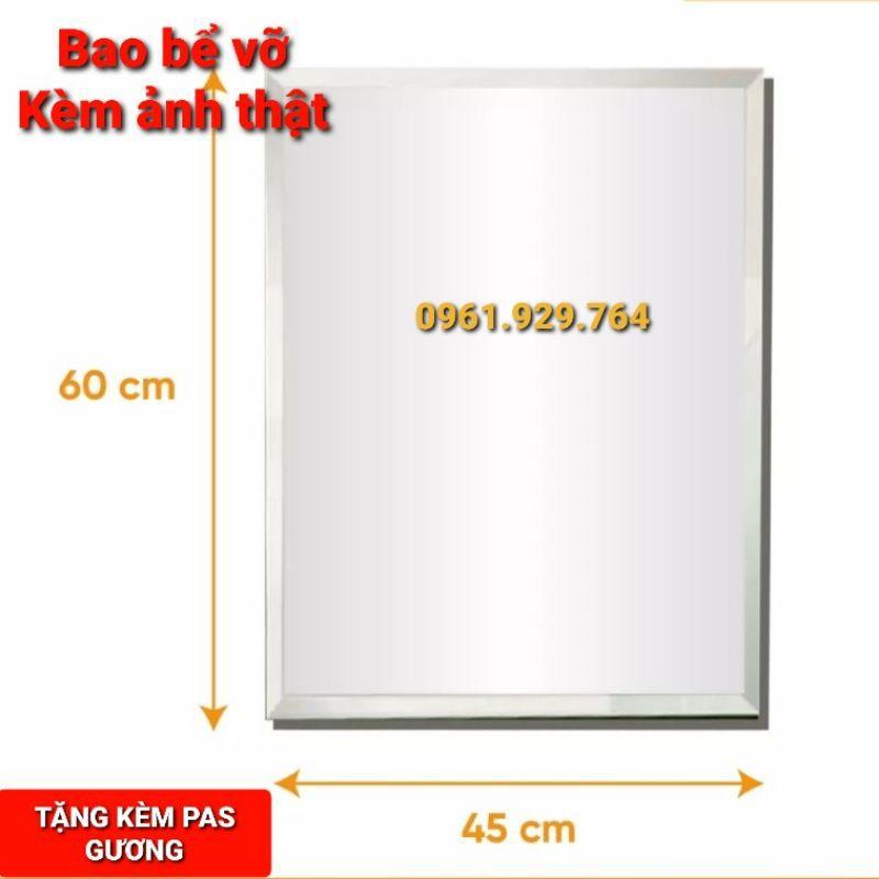 GƯƠNG TREO TƯỜNG NHÀ TẮM VUÔNG KT 45*60cm