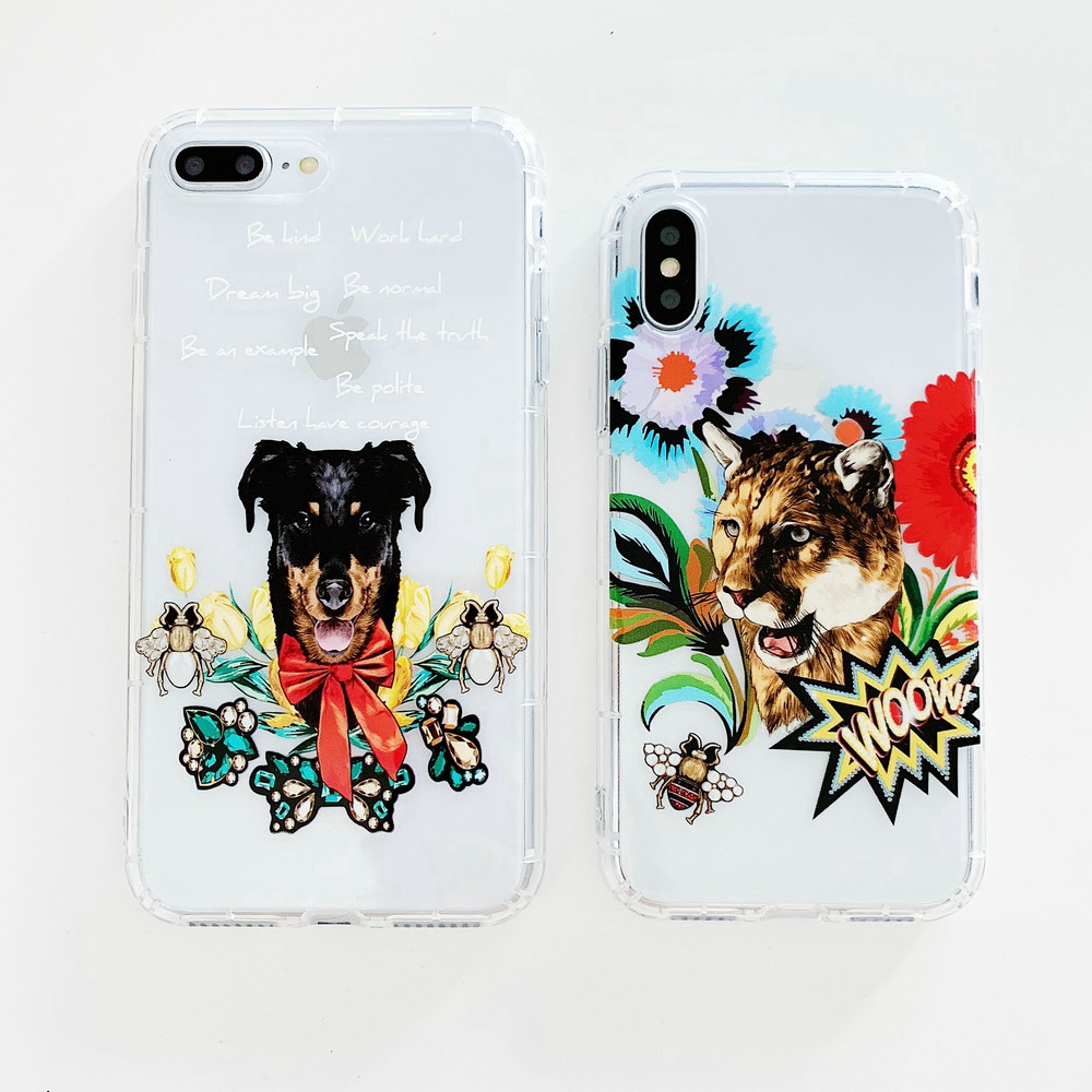 Relief Animal Soft TPU Phone Case For iphone 6 6S 7 8 Plus X XR XS Max Ready Stock
