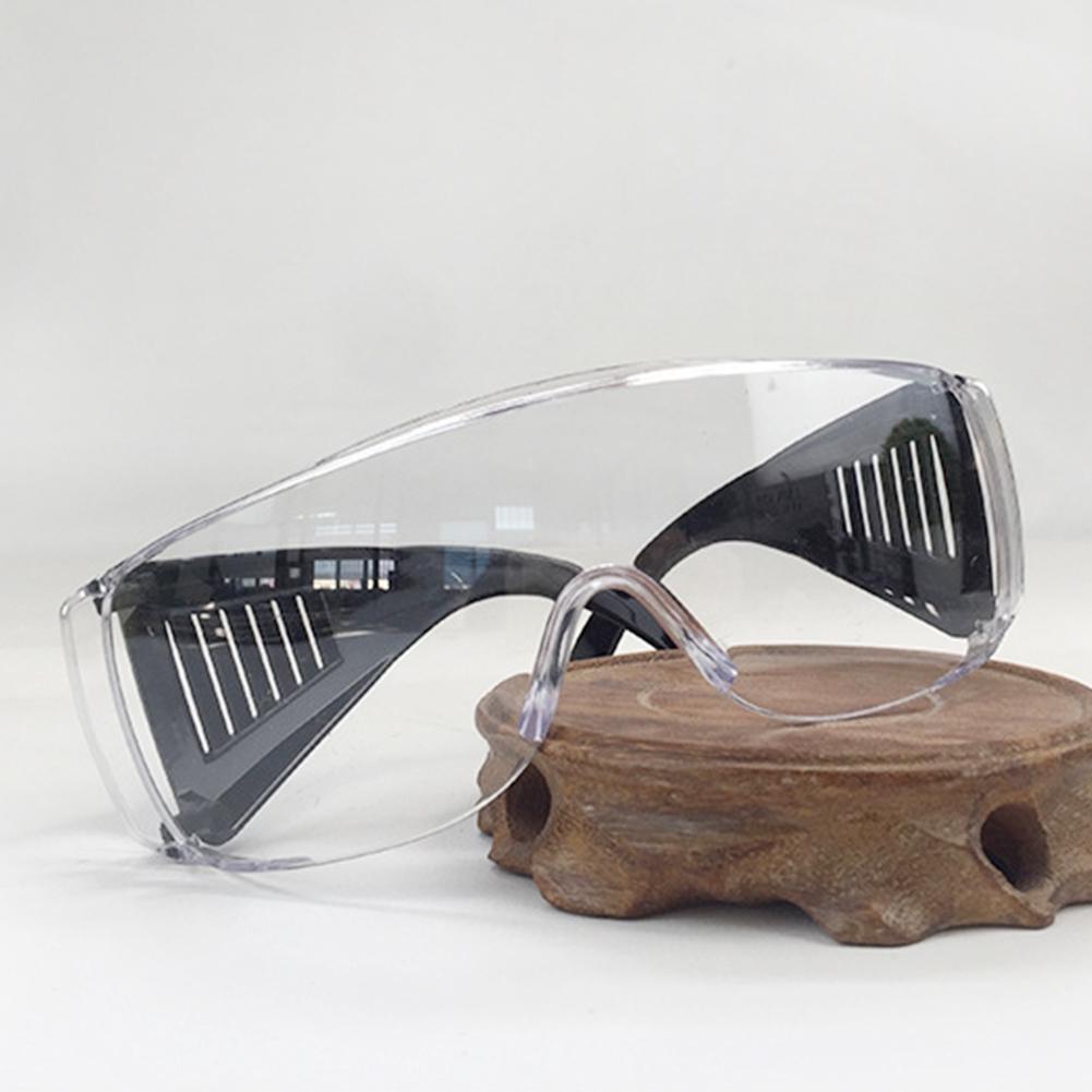 Safety Protective Eyewear Fashion Adult Anti-chemical PC Glasses Anti Shock Anti-Dust Fogging Louver-style