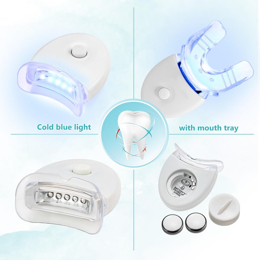 Máy làm trắng răng 20 Munite Dental White sử dụng ánh sáng xanh giúp trắng răng cải thiện ố vàng sau 2 tuần sd