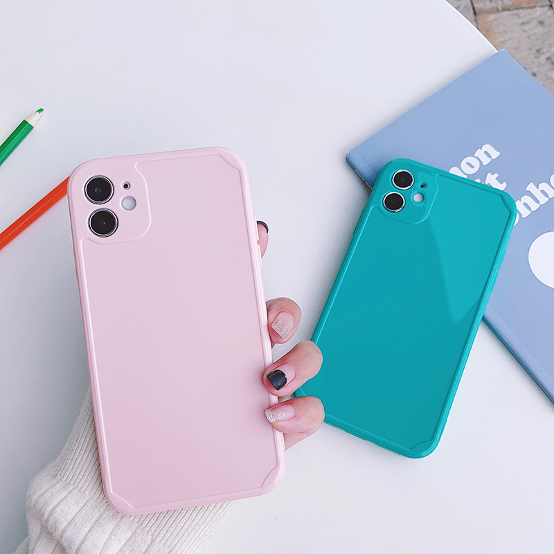 Ốp Điện Thoại Mềm Đơn Giản Phong Cách Hàn Quốc Cho Iphone 12 11promax Xr Xs I7