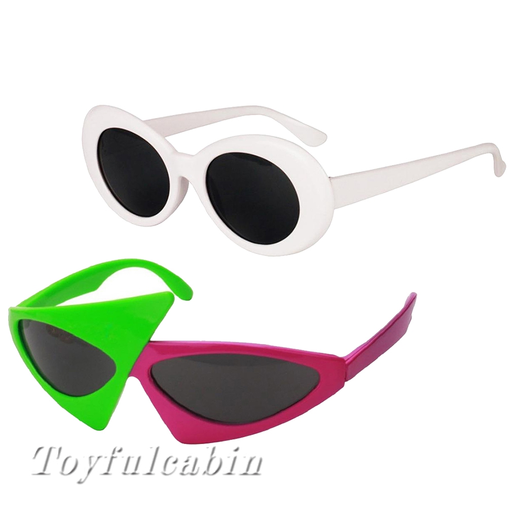 2 sets Party Sunglasses Set Roy Purdy Glasses & Kurt Cobain Glasses