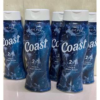 Tắm gội Coast 2in1 mẫu mới 532ml