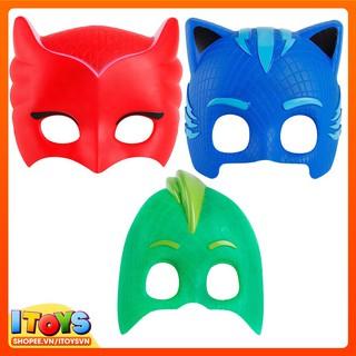 Mặt nạ hóa trang PJ Masks (X.Dương, X.Lá, Đỏ) – Đồ hóa trang, mặt nạ ITOYS – [ DVHT8 ] MQ-004