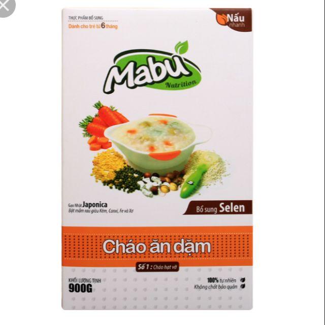 Cháo ăn dặm Mabu loại hạt vỡ 900g