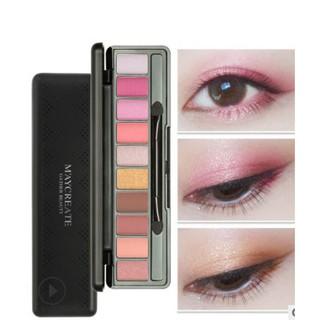 Bảng phấn mắt Maycreate khay 10 màu siêu xinh, có gương + 2 cọ thumbnail