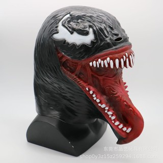 đồ chơi hóa trang mặt nạ kinh dị quỷ đen răng đan lè lưỡi mã IHI14 Mbig size