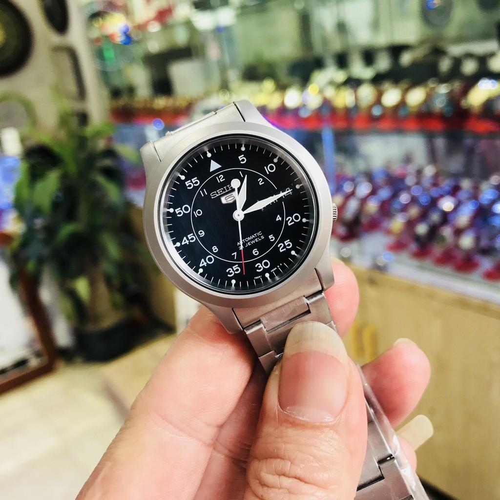 Đồng hồ cơ nam Seiko 5 quân đội SNK809K1 ♥ FREESHIP ♥ [TẶNG 1 DÂY DA BÒ]  size mặt 37mm, dây kim loại