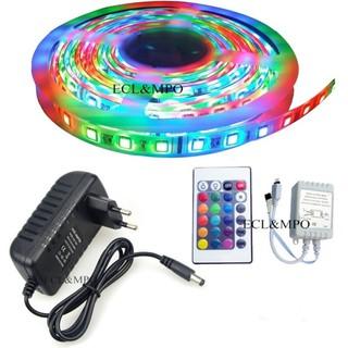 Cuộn đèn Led 3528 dây dán 5m nhiều màu có remote điều khiển kem nguồn