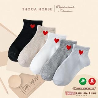 Vớ cổ thấp thời trang THOCA HOUSE hoạ tiết đáng yêu nhiều màu giao ngẫu nhiên, dễ phối trang phục, giày dép thumbnail