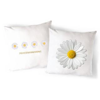 Vỏ Gối Sofa hoa cúc GD VGI19 gối ôm Gối Tựa lưng Sofa Gối vuông Gối Trang Trí vải canvas 45x45cm