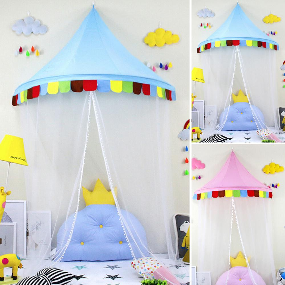 New Funny kids tulle tent Pink/ Blue House Curtain Tent L For Kids Baby Play