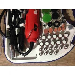 Bộ Máy Khoan Mài cắt Khắc mini Đa Năng ACZ 100 chi tiết (Đỏ) 180W 6 tốc độ
