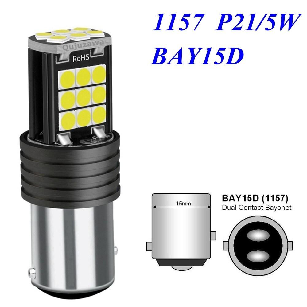 [Mới] Bóng Đèn LED Cho Xi Nhan, Báo Rẽ, Đèn Hậu, Đèn Lùi Cho ô tô, xe máy 1157 Siêu Sáng Với 24 Chip Led 3030 Cao Cấp