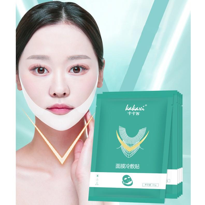 Hộp 5 miếng - Mặt Nạ V-line Premium Mask giúp gương mặt thon gọn hơn