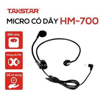 [CHÍNH HÃNG] Bộ micro đeo tai,  micro trợ giảng cài đầu có dây, có kèm kẹp giữ chuyên nghiệp