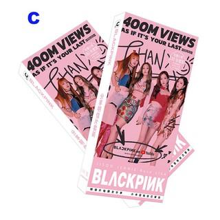 180pcs/set Kpop Blackpink Square Up Postcard Sticker Poster - 180pcs