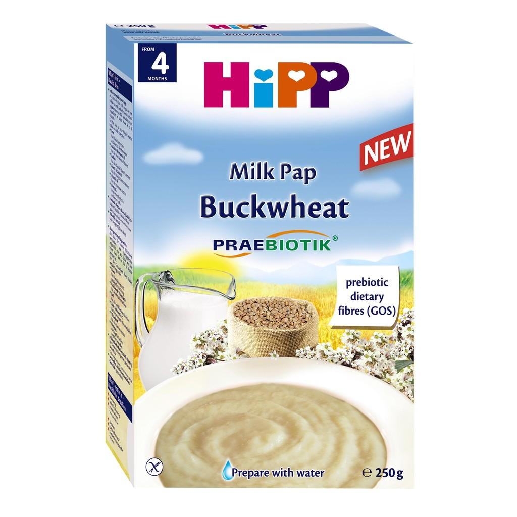 Bột Hipp Kiều Mạch và Sữa 4 tháng 250g
