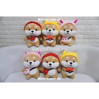 Gấu Bông Chó Shiba Đội Mũ
