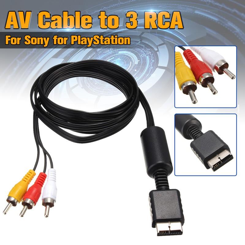 Dây cáp AV đến RCA 1.8m cho máy chơi game Sony PS2 PS3