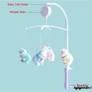 ❣TOP☞New Lovely Cot Mobile Bedside Toy Holder Arm 5 Pcs Hanging Toy Stand