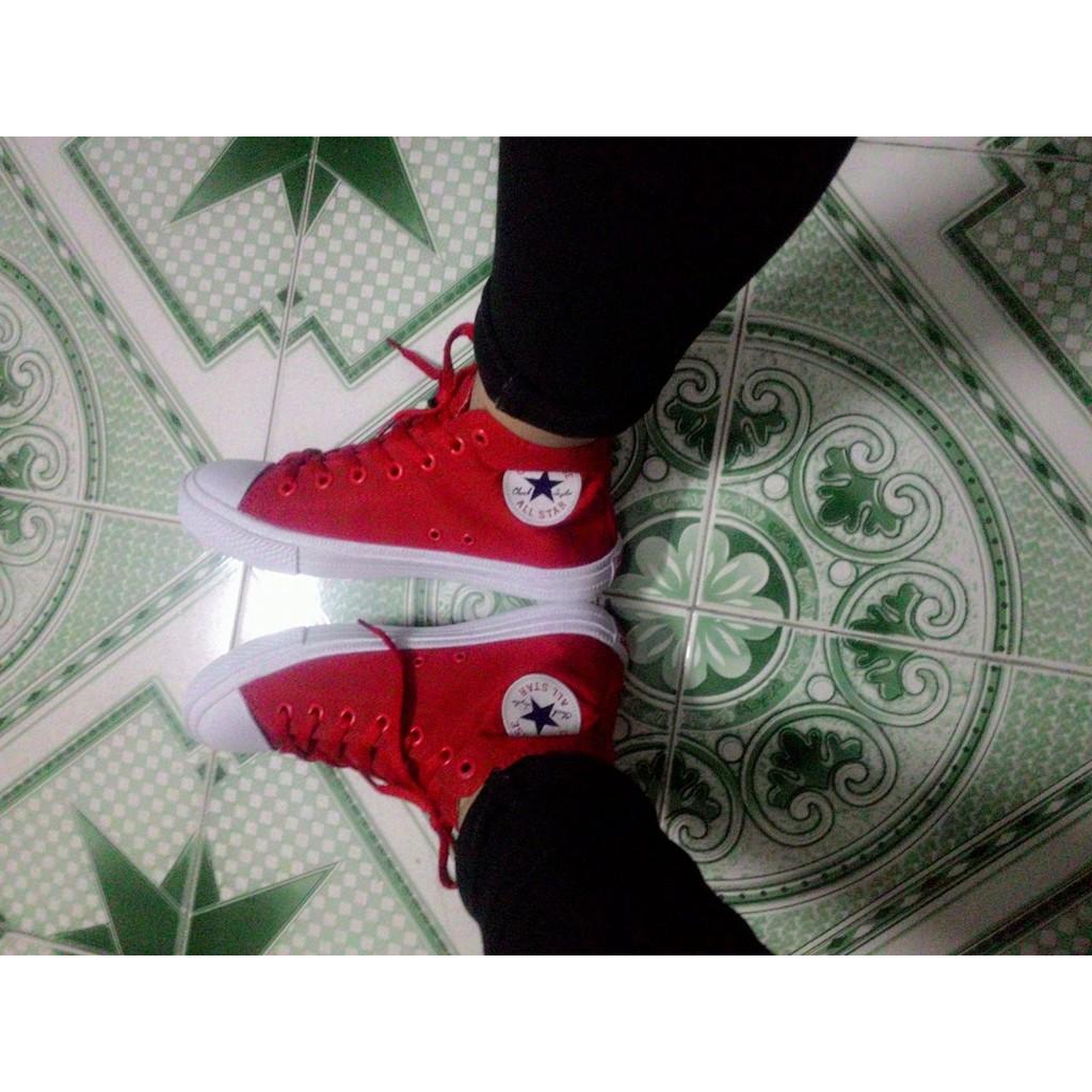 [KÈM HỘP] Giày Converse Chuck 2 cổ cao màu Đỏ tươi