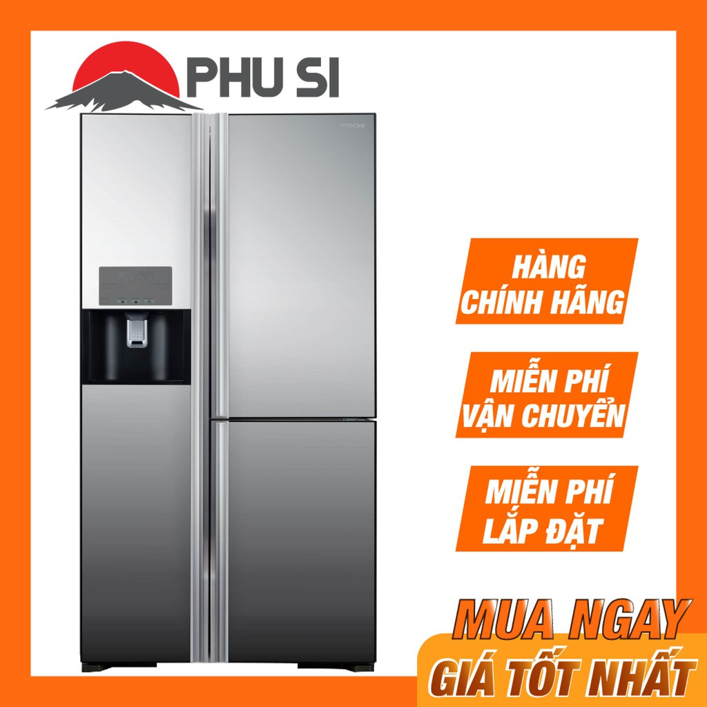 [MIỄN PHÍ LẮP ĐẶT - VẬN CHUYỂN] Tủ lạnh SBS 3 cánh HITACHI R-FM800GPGV2X (MIR) - 584 Lít