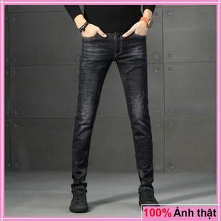 Quần jean nam chất bò cào nhẹ VNXK vải co giãn không phai màu
