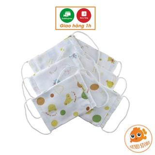 Khẩu trang cho bé - khẩu trang xô xuất Nhật 4 lớp mềm mịn, an toàn cho bé - Nemo Store thumbnail