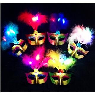 mặt nạ hóa trang lông vũ ( có ảnh thật ) |Shopbansire Ftu9z