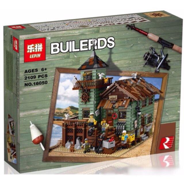 Lego lepin 16050- Cửa hàng bán đồ câu cá cũ