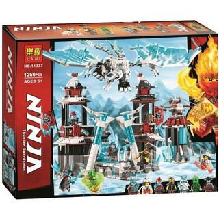 Đồ chơi lắp ráp lego minifigures ninjago season 11 lâu đài hoàng đế băng giá và samurai ninja lloyd, Akita Lari 11333.