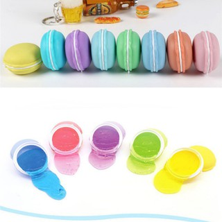 Set of 12 colored clay macaron