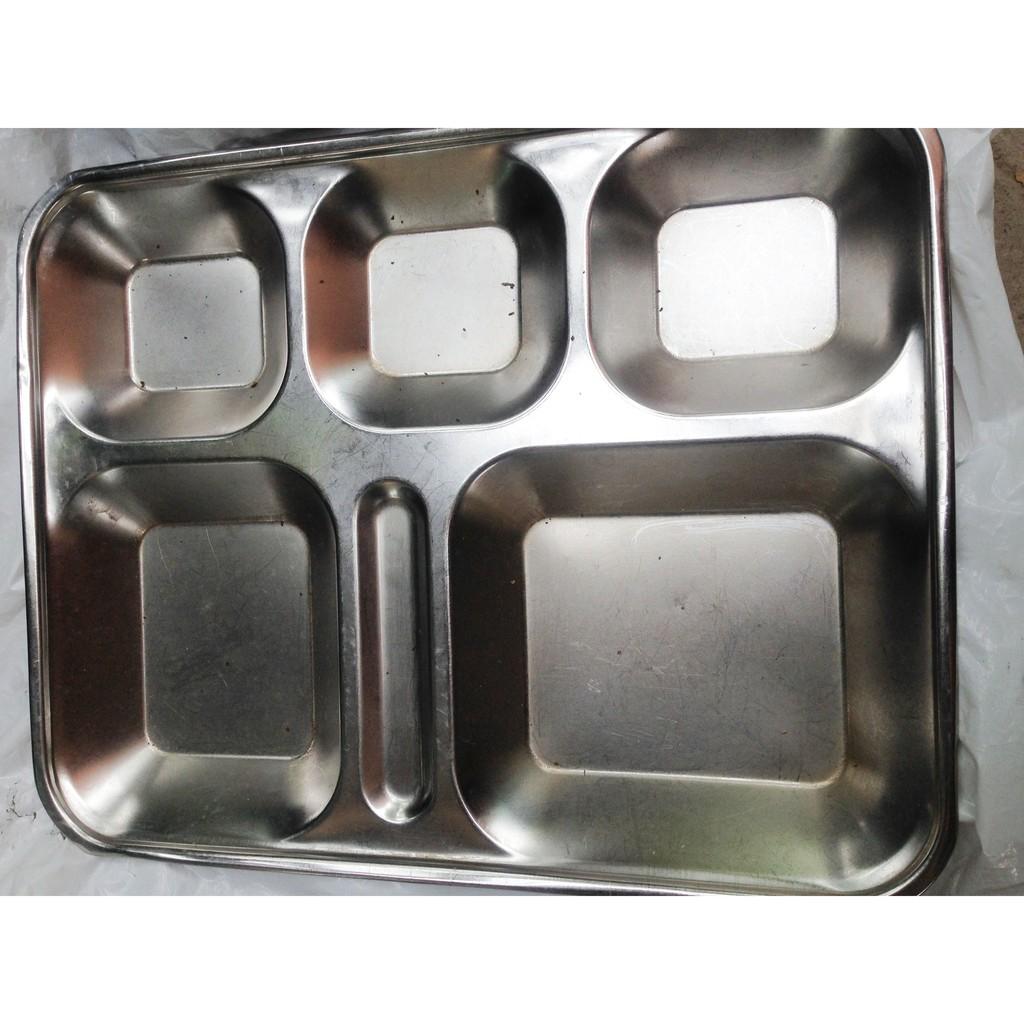 Khay cơm 5 ngăn Inox 304 không gỉ, đựng cơm hoặc linh kiện điện tử - 9938005 , 316511280 , 322_316511280 , 80000 , Khay-com-5-ngan-Inox-304-khong-gi-dung-com-hoac-linh-kien-dien-tu-322_316511280 , shopee.vn , Khay cơm 5 ngăn Inox 304 không gỉ, đựng cơm hoặc linh kiện điện tử