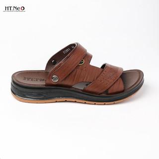 Sandal da bò- dép da HT.NEO da bò thật 100% kết hợp đế kếp cao 3,5cm cực đẹp khâu may chân quai siêu chắc chắn SD88 thumbnail