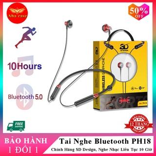 Tai Nghe Bluetooth quàng cổ SD Design PH 18 Kiểu Dáng Thể Thao, Pin cực trâu 10 TIẾNG, Bảo hành 12 tháng thumbnail