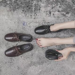 ẢNH THẬT - Giày tây nữ văn phòng êm ái KHÔNG ĐAU CHÂN. Đế bệt, chất cực đẹp mà êm, mẫu moca lười chuẩn size, dễ phối đồ.