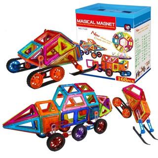 Đồ chơi Xếp hình Nam Châm Trí Tuệ Thương hiệu Magical Magnet 168 chi tiết (pcs) cho trẻ từ 3+ nhựa ABS chống va đập