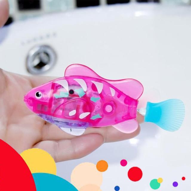 {Cầu Diễn} Cá Robo Bể Cá Nhiều Màu (Trang Trí, Bé Chơi Khi tắm) (Màu Sắc Ngẫu Nhiên)