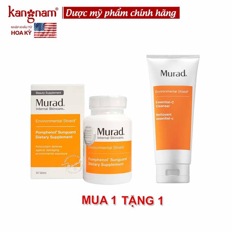 MUA Viên Uống Chống Nắng Murad 60 Viên TẶNG Sữa Rửa Mặt C Murad 200ml