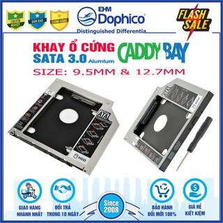 Caddy Bay HDD-SSD Sata3 (Vỏ nhôm, size 9.5mm và 12.7mm) Khay ổ cứng thay thế ổ DVD thumbnail
