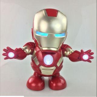 Robot Iron Man Dancing – Robot tự nhảy múa có đèn có nhạc.