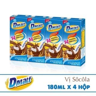 Sữa Cacao lúa mạch Dmalt Australia (180ml/4 hộp)