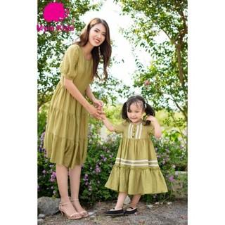 [ SALE 50%] Set đầm đôi mẹ và bé gái chất tơ lụa organza 503 – Myla Kids – Thiết kế đẹp 2021