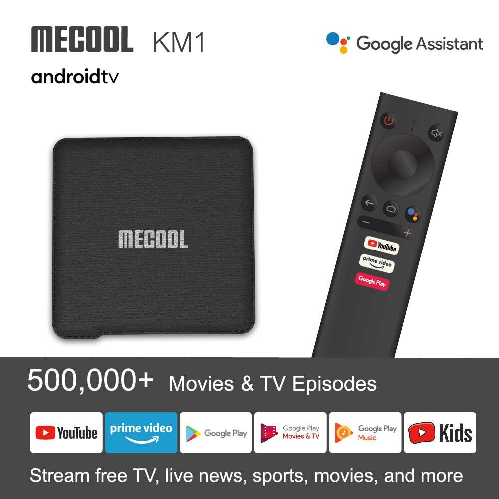 Mecool KM1 DELUXE, Android TV 9.0 Chứng Chỉ Google (Google Certificate), AMLOGIC S905X3 4gb/32gb, Remote Voice Giọng Nói