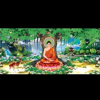Tranh dán Tường Kim Sa Phật Thích Ca 100x45cm