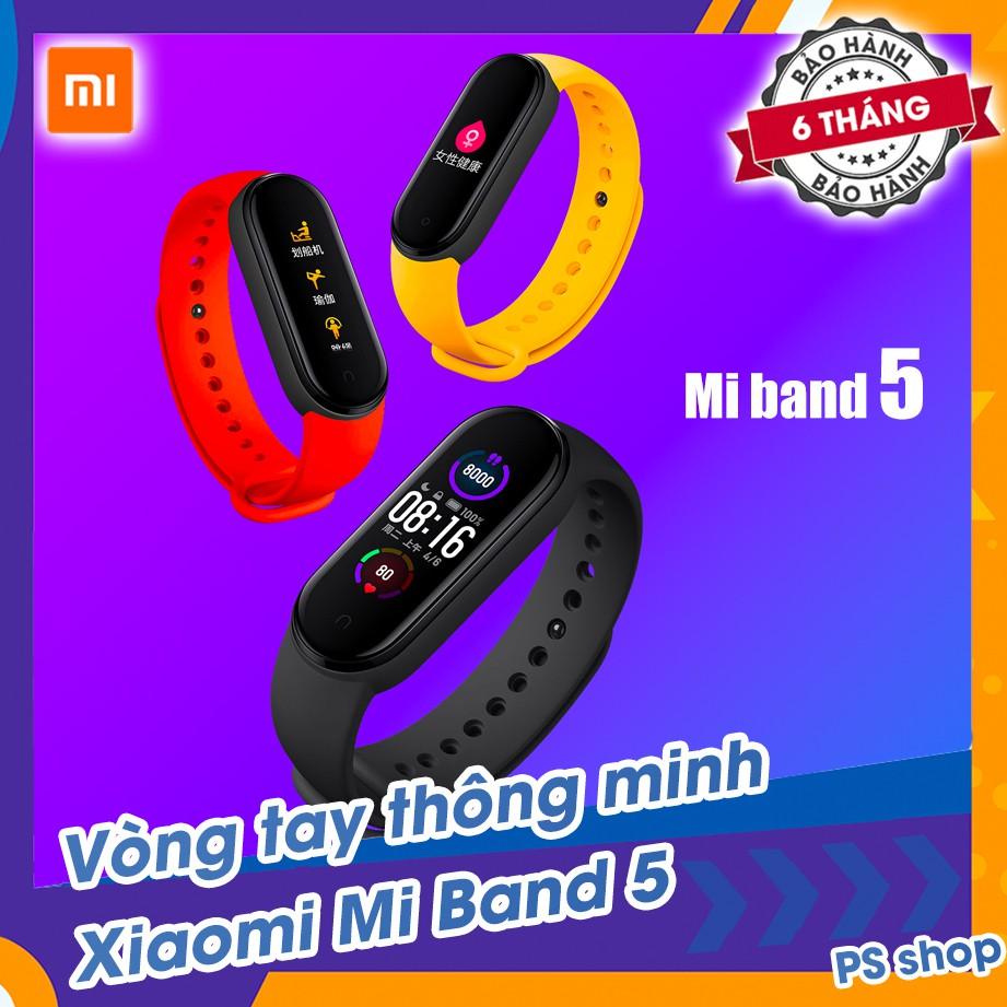 Vòng tay theo dõi sức khoẻ Xiaomi Mi Band 5 / Đồng hồ thông minh Miband 5 - Tặng kèm...