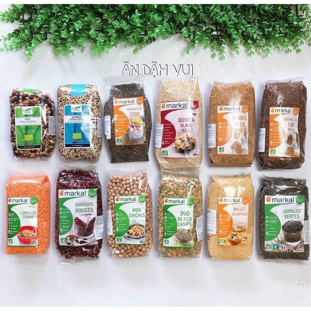 [Tách lẻ] Các loại hạt hữu cơ dùng nấu cháo, sữa hạt, bữa phụ cho bé ăn dặm (date 12/2021)