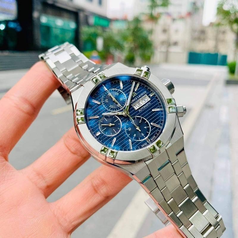 Đồng hồ nam Mau.rice Lac.roix Aikon Chronograph Blue -  .
